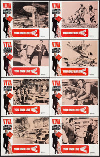 """You Only Live Twice (United Artists, R-1970). Lobby Card Set of 8 (11"""" X 14""""). James Bond. ... (Total: 8 Items..."""