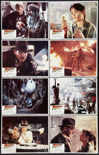 """Raiders of the Lost Ark (Paramount, 1981). Lobby Card Set of 8 (11"""" X 14""""). Adventure. ... (Total: 8 Items)"""