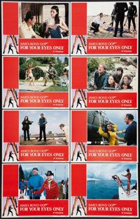 """For Your Eyes Only (United Artists, 1981). Lobby Card Set of 8 (11"""" X 14""""). James Bond. ... (Total: 8 Items)"""