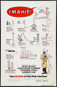 """The Return of the Pink Panther (United Artists, 1975). One Sheet (27"""" X 41"""")Review (Style C). Comedy"""