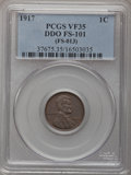 Lincoln Cents: , 1917 1C Doubled Die Obverse VF35 PCGS. FS-101, (FS-013). PCGSPopulation (3/28). (#92495)...