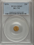 California Fractional Gold: , 1876 25C Indian Octagonal 25 Cents, BG-799, At least High R.6, MS63PCGS. PCGS Population (31/36). NGC Census: (1/5). (#1...