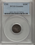 Early Half Dimes, 1795 H10C PCGS Genuine. The PCGS number ending in .98 suggestsDamage as the reason, or perhaps one of the reasons, that PC...