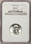 Washington Quarters: , 1959-D 25C MS67 NGC. NGC Census: (27/0). PCGS Population (6/0).Mintage: 62,054,232. Numismedia Wsl. Price for problem free...