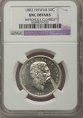 Coins of Hawaii: , 1883 50C Hawaii Half Dollar--Improperly Cleaned--NGC Details. Unc.NGC Census: (1/145). PCGS Population (5/204). Mintage: 7...