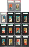 "Hockey Cards:Sets, 1910 C56 ""Hockey Players"" Graded Partial Set (14 Different). ..."