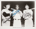 Autographs:Photos, Early 1980's Roger Maris, Willie Mays & Mickey Mantle SignedPhotograph....