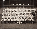 Baseball Collectibles:Photos, 1938 New York Yankees Large Team Photograph....