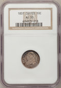 Bust Dimes: , 1837 10C AU55 NGC. NGC Census: (6/97). PCGS Population (16/60).Mintage: 359,500. Numismedia Wsl. Price for problem free NG...