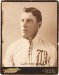 Baseball Collectibles:Photos, 1899 Jouett Meekin Boston Beaneaters Large Cabinet Photograph....