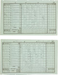 Autographs:Others, 1883 Harry Wright Signed & Unsigned Score Sheets....