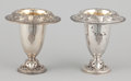 Silver Holloware, American:Vases, A PAIR OF AMERICAN SILVER AND SILVER GILT VASES . GorhamManufacturing Co., Providence, Rhode Island, circa 1900. Marks:(li... (Total: 2 Items)