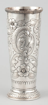 AN AMERICAN SILVER VASE Maker unidentified, American or Canadian, circa 1880 Marks: S (crown) E</