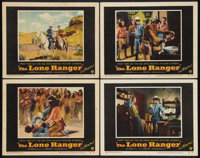 "The Lone Ranger (Warner Brothers, 1956). Lobby Cards (4) (11"" X 14""). Western. ... (Total: 4 Items)"