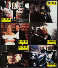 """Batman (Warner Brothers, 1989). French Lobby Card Set of 12 (8.25"""" X 10.75""""). Action. ... (Total: 12 Items)"""