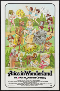"Alice in Wonderland (General National, 1976). One Sheet (27"" X 41""). X-Rated Version. Sexploitation"