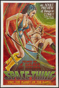 "Movie Posters:Adult, Space-Thing (FPS Ventures, 1968). One Sheet (28"" X 42""). Adult.. ..."