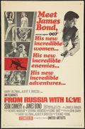 "Movie Posters:James Bond, From Russia with Love (United Artists, 1964). One Sheet (27"" X 41"")Style A Flat Folded. James Bond.. ..."