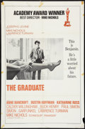 "Movie Posters:Comedy, The Graduate (Embassy, 1968). One Sheet (27"" X 41"") Academy Awards A Style. Comedy.. ..."