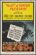 """Movie Posters:Mystery, The List of Adrian Messenger (Universal, 1963). One Sheet (27"""" X 41""""). Mystery.. ..."""