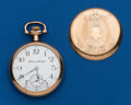 Timepieces:Pocket (post 1900), Hampden, 15 Jewel, 16 Size Two-tone. ...