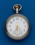 Timepieces:Pocket (post 1900), Waltham, 18 Size, Fancy Dial Model 83. ...