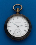 Timepieces:Pocket (pre 1900) , Waltham, 18 Size, Model 57 Sterling Key Wind. ...