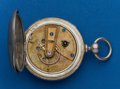 Timepieces:Pocket (pre 1900) , Waltham, Pinned Plate Rare Early P.S. Bartlett, No. 10387. ...