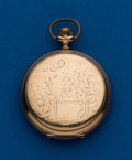 Timepieces:Pocket (post 1900), Waltham, 6 Size, Fancy Dial. ...