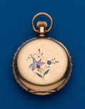 Timepieces:Pocket (post 1900), Elgin, 6 size, Hunters Case With Enamel. ...