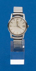 Timepieces:Wristwatch, Omega, Steel Automatic. ...