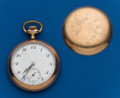 Timepieces:Pocket (post 1900), Swiss, 18 Size, 17 Jewel, Gold Filled. ...