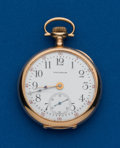 Timepieces:Pocket (post 1900), Waltham, 14k Gold, 12 Size, 17 Jewel. ...