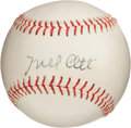 Autographs:Baseballs, Early 1950's Mel Ott Signed Baseball....