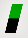 Prints, ELLSWORTH KELLY (American, b. 1923). Green/Black, 1972. Lithograph in colors. Sheet: 40-1/2 x 30-1/4 inches (102.9 x 76....