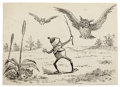 Mainstream Illustration, PALMER COX (Canadian, 1840-1924). Brownies book illustration,group of 3, c. 1890 and 1904. Ink on paper laid on board. ...(Total: 3 Items)