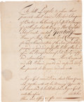 """Miscellaneous:Ephemera, Massachusetts Bay Slave Receipt. One page, penned on recto andverso, 6.25"""" x 7.75"""", Boston, October 23, 1739. ..."""