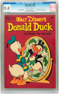 Golden Age (1938-1955):Funny Animal, Four Color #356 Donald Duck (Dell, 1951) CGC NM 9.4 Off-white towhite pages....