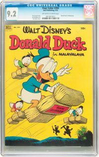 Four Color #394 Donald Duck (Dell, 1952) CGC NM- 9.2 Off-white to white pages