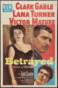 "Movie Posters:Drama, Betrayed (MGM, 1954). One Sheet (27"" X 41""). Drama.. ..."