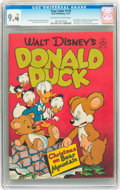 Golden Age (1938-1955):Cartoon Character, Four Color #178 Donald Duck (Dell, 1947) CGC NM 9.4 Off-white to white pages....
