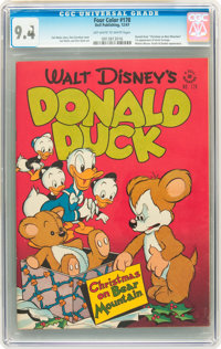 Four Color #178 Donald Duck (Dell, 1947) CGC NM 9.4 Off-white to white pages