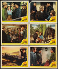 "Movie Posters:Western, Billy the Kid (MGM, 1941). Lobby Cards (6) (11"" X 14""). Western.. ... (Total: 6 Items)"