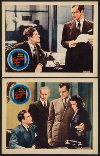 """Espionage Agent (Warner Brothers, 1939). Other Company Lobby Cards (2) (11"""" X 14""""). Thriller. ... (Total: 2 It..."""
