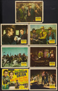 "Movie Posters:Western, Western Union (20th Century Fox, 1941). Title Lobby Card and Lobby Cards (6) (11"" X 14""). Western.. ... (Total: 7 Items)"