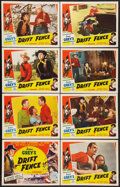 """Movie Posters:Western, Drift Fence (Favorite Films, R-1951). Lobby Card Set of 8 (11"""" X 14""""). Western.. ... (Total: 8 Items)"""