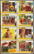 "Movie Posters:Western, 'Neath the Arizona Skies (Western Adventure, R-1940s). Lobby Card Set of 8 (11"" X 14""). Western.. ... (Total: 8 Items)"