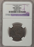 Colonials: , 1786 COPPER Vermont Copper, Baby Head--Corrosion--NGC Details.Fine. Ryder-9, R.3. NGC Census: (0/2). PCGS Population (4/12...