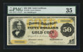 Large Size:Gold Certificates, Fr. 1193 $50 1882 Gold Certificate PMG Choice Very Fine 35.. ...