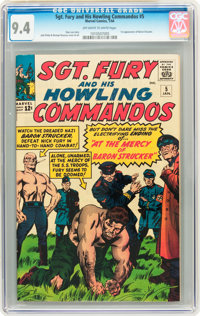 Sgt. Fury and His Howling Commandos #5 (Marvel, 1964) CGC NM 9.4 Off-white to white pages
